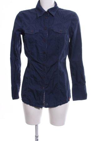 edc Hemd-Bluse blau Casual-Look