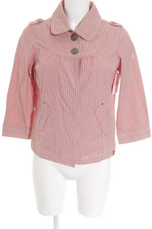 edc Hemd-Bluse rot-creme Streifenmuster klassischer Stil