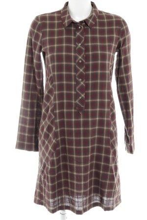 edc Robe chemise gris brun-rouge carmin motif à carreaux style décontracté