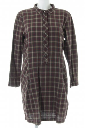 edc Abito blusa camicia marrone chiaro-bordeaux motivo a quadri stile casual