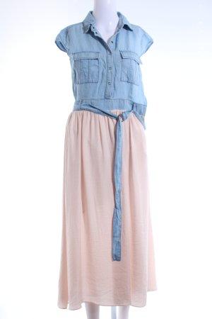 edc Hemdblusenkleid nude-kornblumenblau Casual-Look