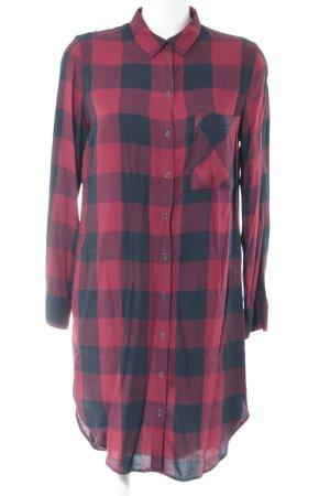 edc Abito blusa camicia nero-rosso scuro motivo a quadri stile casual