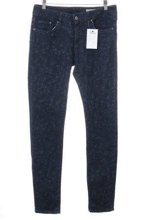 edc Jeans taille haute bleu foncé motif floral style décontracté