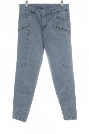 edc Pantalone a vita bassa blu acciaio stile casual
