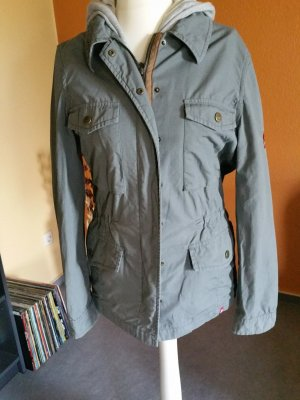 edc by Esprit Safari Jacket khaki-light grey cotton