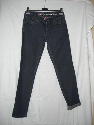 EDC Jeans gerades Bein dunkelblau zum Umschlagen