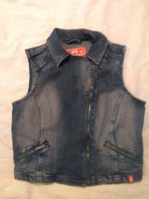 edc by Esprit Gilet en jean bleu acier coton
