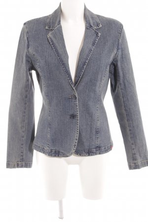 edc Denim Blazer steel blue street-fashion look