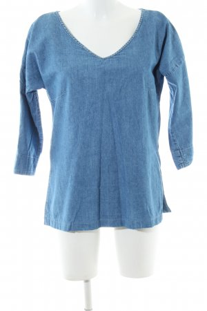 edc Jeansbluse blau meliert Casual-Look