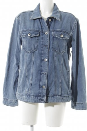 edc Jeansjacke hellblau-wollweiß Washed-Optik