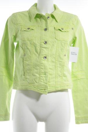 edc Denim Jacket neon green street-fashion look