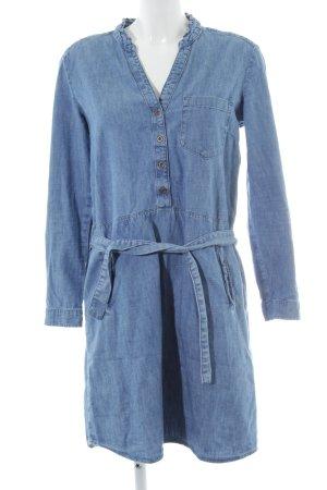 edc Jeanskleid stahlblau Jeans-Optik
