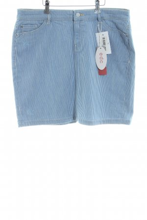 edc Jeansrock blau-weiß Streifenmuster Casual-Look