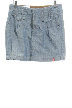 edc Jeansrock graublau meliert Jeans-Optik