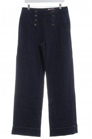 edc Jeansschlaghose dunkelblau Elegant