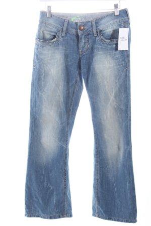 Edc Jeansschlaghose hellblau Casual-Look