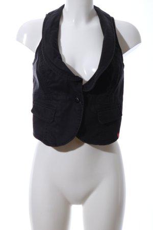 edc Denim Vest black casual look