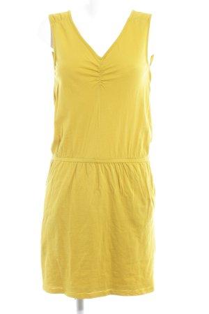edc Abito jersey giallo lime motivo a righe stile casual