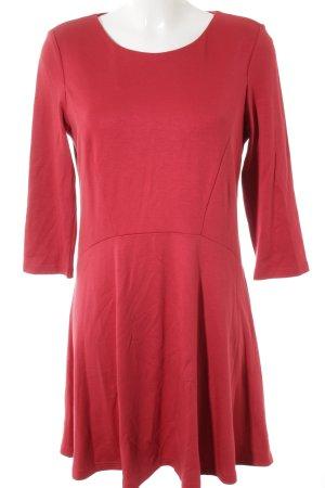 edc Vestido de tela de jersey rojo look casual
