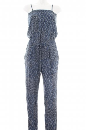edc Jumpsuit blau-hellgrau Allover-Druck Casual-Look