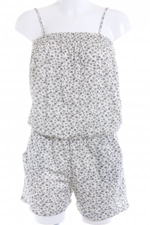 edc Jumpsuit hellgelb-dunkelblau Blumenmuster Casual-Look