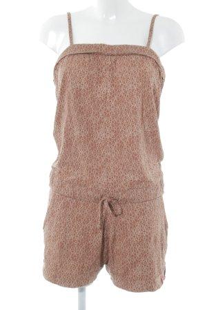 edc Jumpsuit rostrot-creme abstraktes Muster Boho-Look