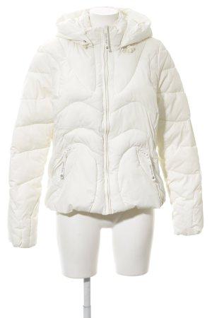 edc Giacca con cappuccio bianco sporco-crema stile casual