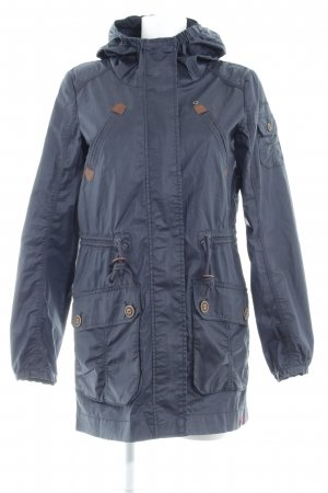 edc Hooded Coat dark blue shimmery
