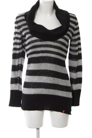 edc Jersey con capucha negro-gris claro estampado a rayas look casual