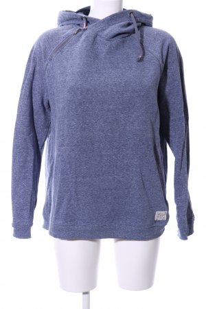 edc Hooded Sweatshirt blue flecked casual look