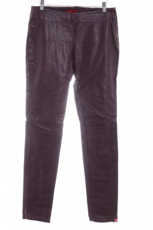 edc Pantalone peg-top marrone-viola stile casual