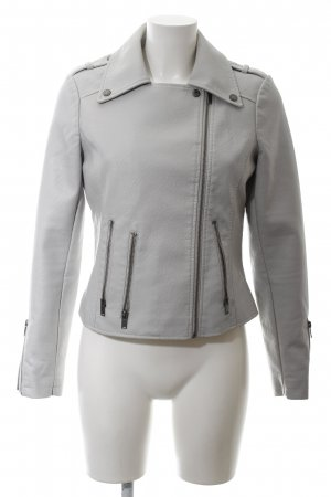 edc Faux Leather Jacket light grey casual look