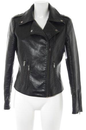 edc Faux Leather Jacket black biker look
