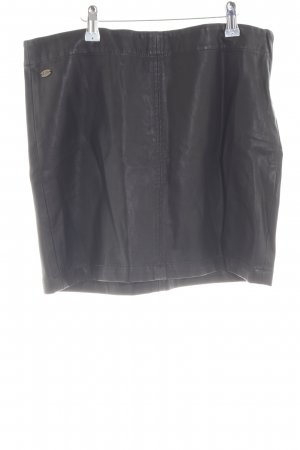 edc Faux Leather Skirt black wet-look