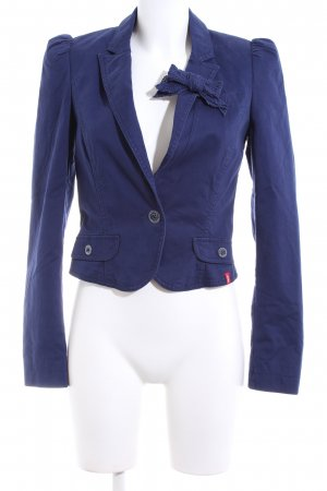 edc Kurz-Blazer blau Business-Look