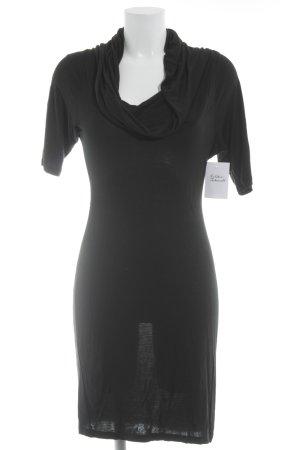 edc Kurzarmkleid schwarz schlichter Stil