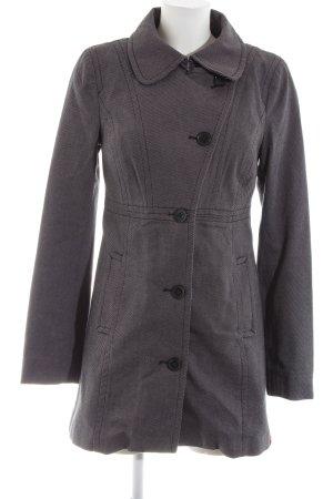 edc Cappotto corto grigio chiaro motivo a righe stile professionale