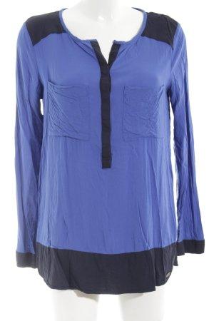 edc Langarm-Bluse blau Business-Look