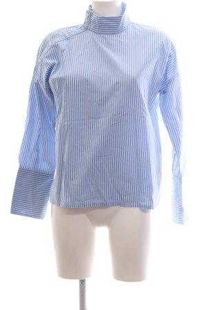 edc Langarm-Bluse blau-weiß Streifenmuster Business-Look