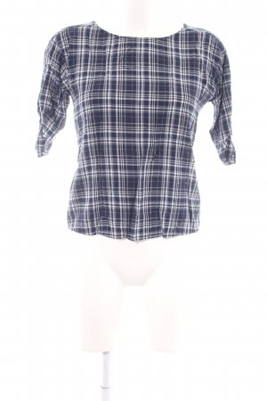 edc Long Sleeve Blouse blue-white check pattern casual look