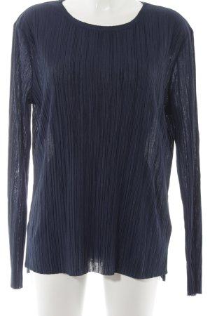 edc Langarm-Bluse dunkelblau Casual-Look