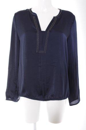 edc Langarm-Bluse dunkelblau Elegant