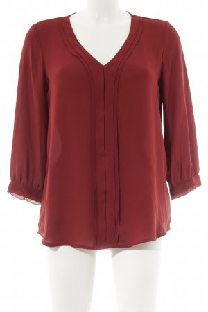 edc Langarm-Bluse dunkelrot Street-Fashion-Look