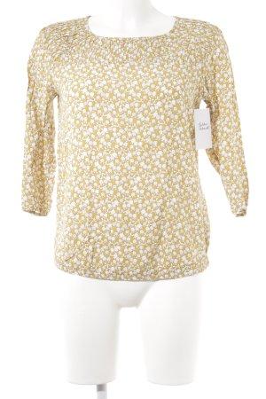 edc Langarm-Bluse goldorange-creme Romantik-Look
