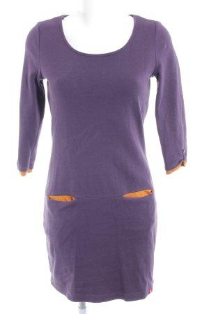 edc Langarmkleid dunkelviolett-dunkelorange Casual-Look
