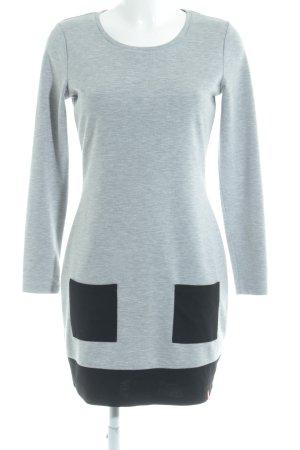 edc Longsleeve Dress light grey-black casual look
