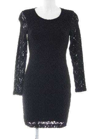 edc Langarmkleid schwarz klassischer Stil