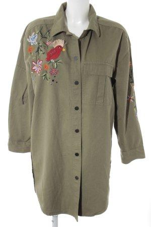 edc Lange Jacke khaki Animalmuster Military-Look