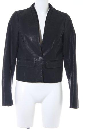 edc Leather Blazer black business style