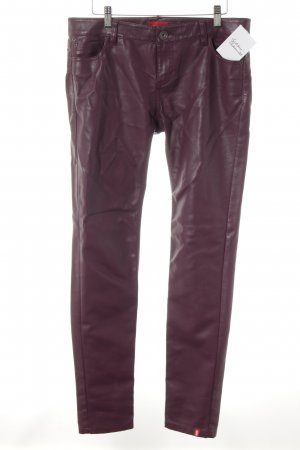 edc Lederhose bordeauxrot Casual-Look